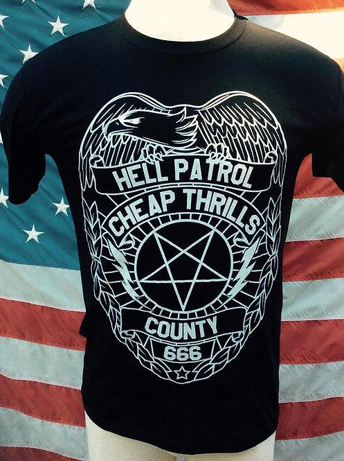 HELL PATROL PENTAGRAM POLICE BADGE SHIRT
