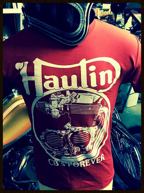 HAULIN' cb's forever red engine shirts