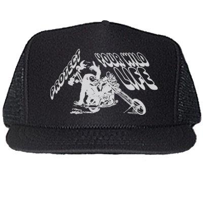 PROTECT YOUR WILDLIFE BLACK TRUCKER HATS