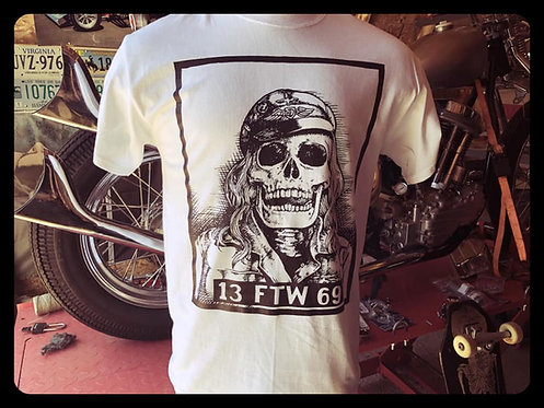 13 FTW 69 Death Rider white shirt