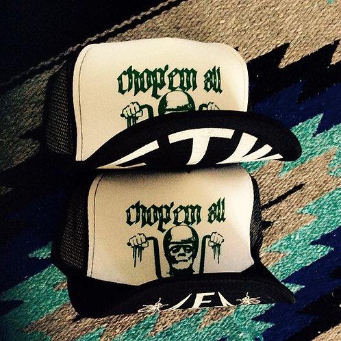 """CHOP'EM ALL"" FRANKENSTEIN WHITE/BLACK HATS"