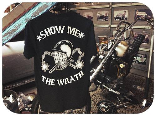 """show me the wrath"" knight helmet & mace tee shirt"