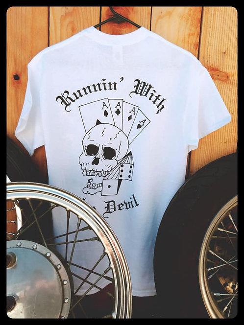 Running With The Devil Gambling Skull shirt