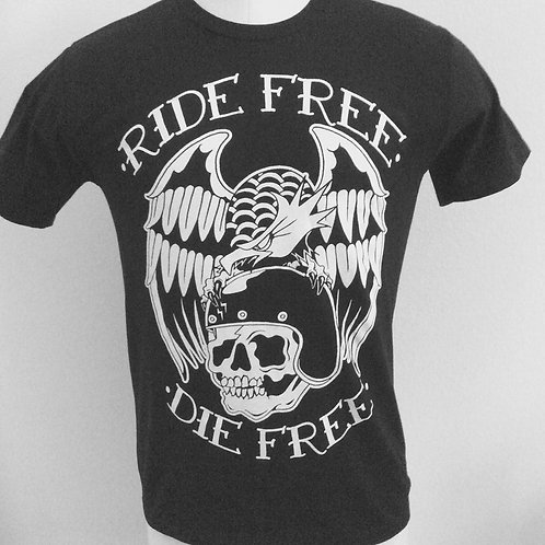 RIDE FREE, DIE FREE eagle and skull tee