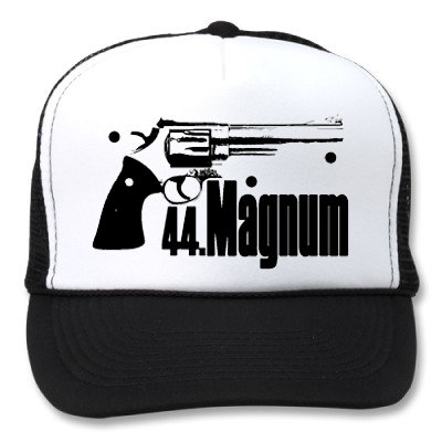 44 MAGNUM WHITE/BLACK HATS