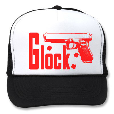 GLOCK WHITE/BLACK HATS