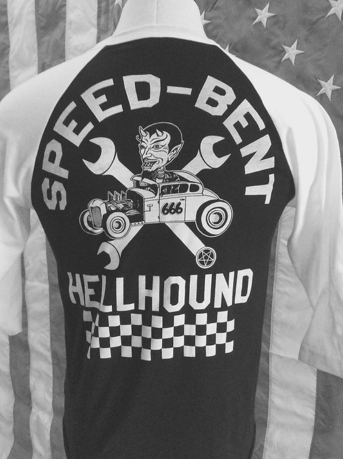Speed-Bent Hellhound Track baseball 3/4 sleeve T