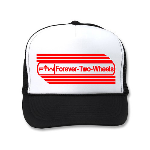 FOREVER 2 WHEELS AMF STYLE EMBLEM! BLACK AND WHITE