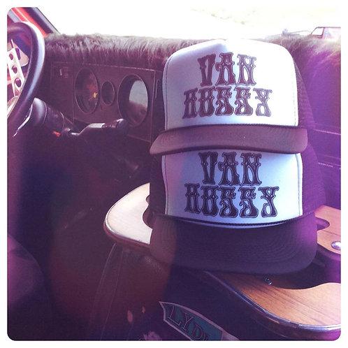 Ladies VANNER HUSSY psychedelic black & white adjustable snapback hat