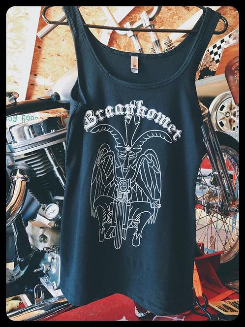 Braaphomet Motorcycle Goat Black Girls Tank TOp