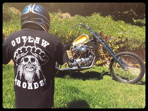 """""""outlaw roads"""" Western sombrero & skull shirt"""