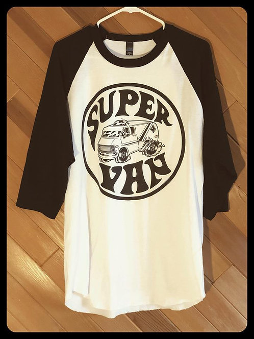 Super Van 3/4 sleeve Raglan baseballshirt