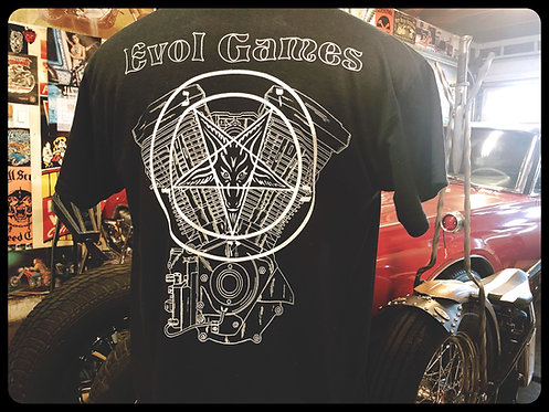 Evol Games Evolution Engine & Pentacle black shirt