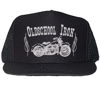 """OLDSCHOOL IRON"" BLACK TRUCKER HATS"