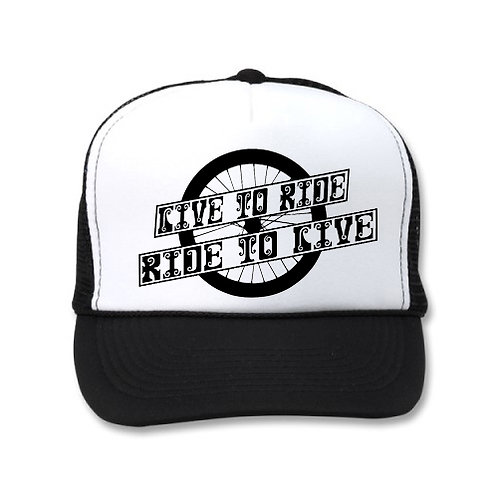 LIVE TO RIDE RIDE TO LIVE WHEEL WHITE/BLACK HATS