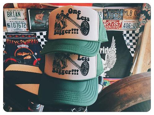 One Less Bagger Trucker hat