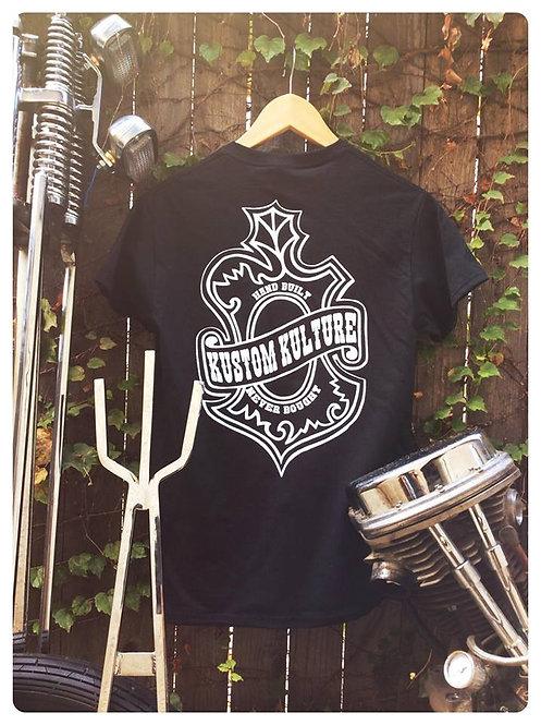 Kustom Kulture oak leaf emblem black shirt