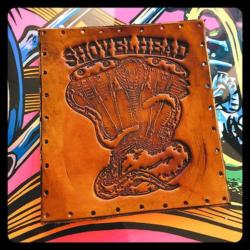 Shovelhead Cobra and Engine Leather Patch