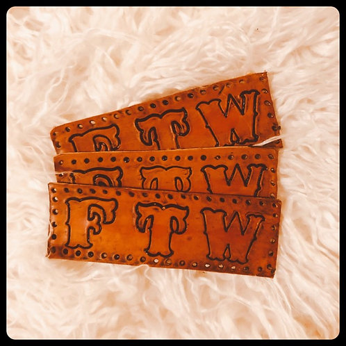 FTW PATCH Hand Tooled Premium Leather Cowhide