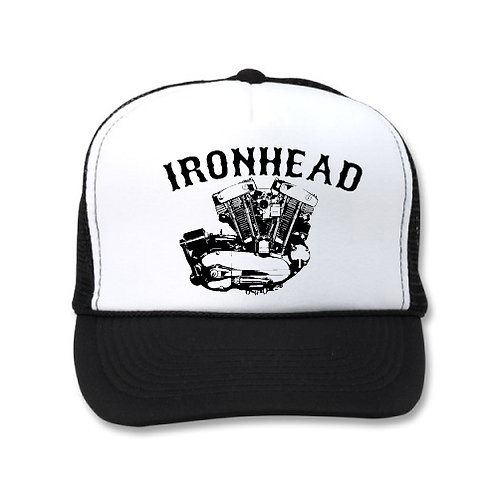 IRONHEAD ENGINE WHITE/BLACK HATS