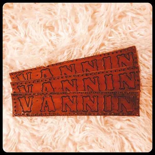 VANNIN' PATCH Hand Tooled Premium Leather Cowhide