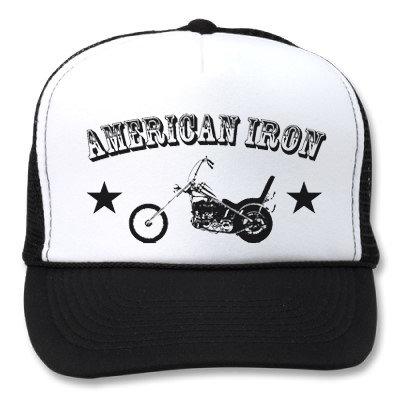 """AMERICAN IRON""  WHITE/BLACK HATS"