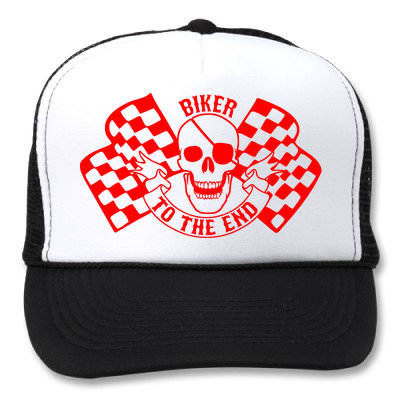 BIKER TO THE END WHITE/BLACK HATS