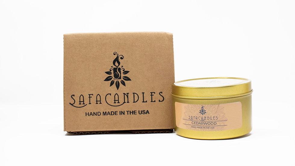 Cedarwood Candle Gold Travel Tin