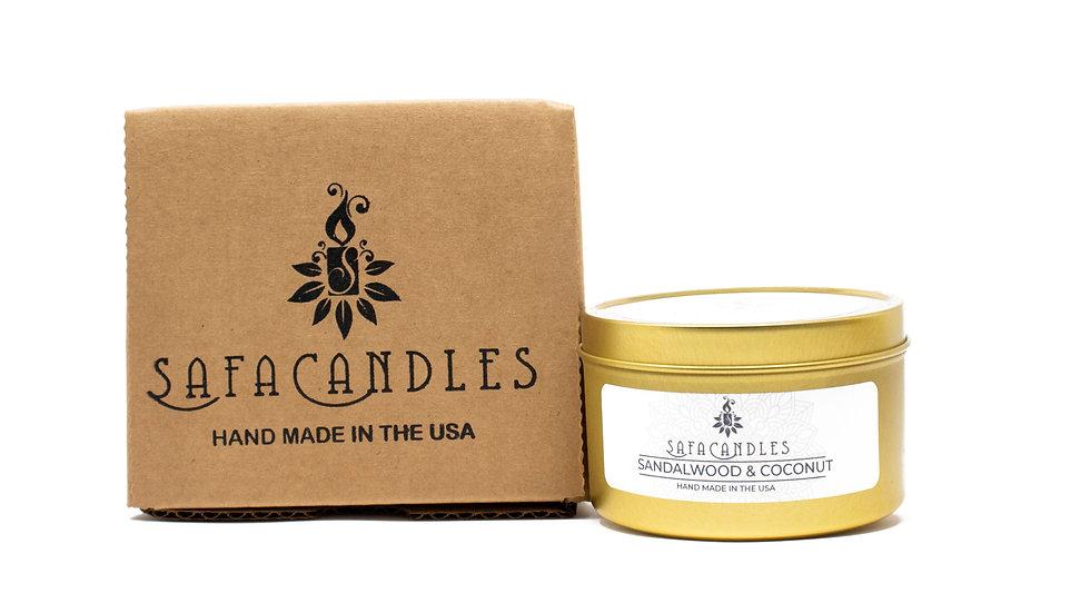Sandalwood & Coconut Gold Travel Tin