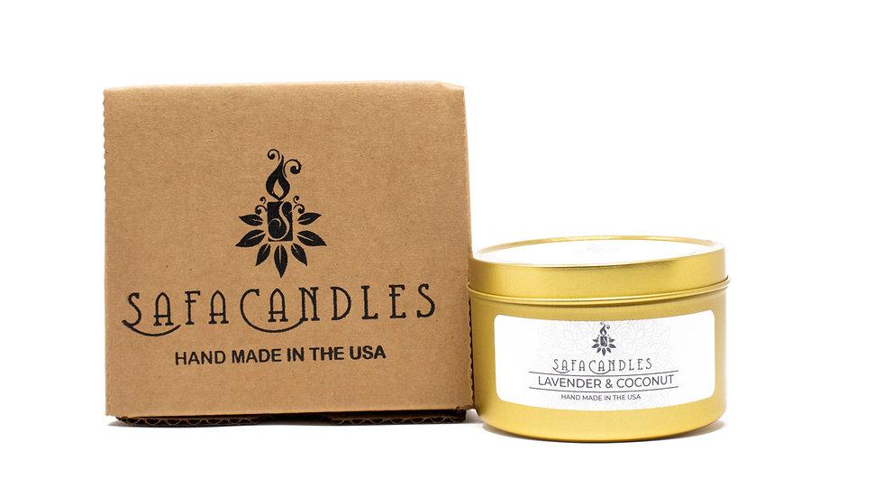 Lavender & Coconut Gold Travel Tin