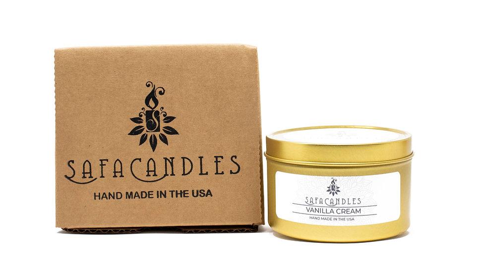 Vanilla Cream Gold Travel Tin
