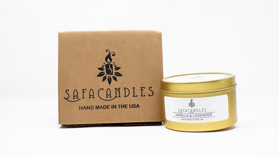 Vanilla & Lavender Gold Travel Tin