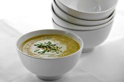 Sopa zapallitos italianos al curry