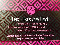 Les Elixirs de Betti Santé et Cosmétiques avec les Huiles Essentielles Neuchâtel