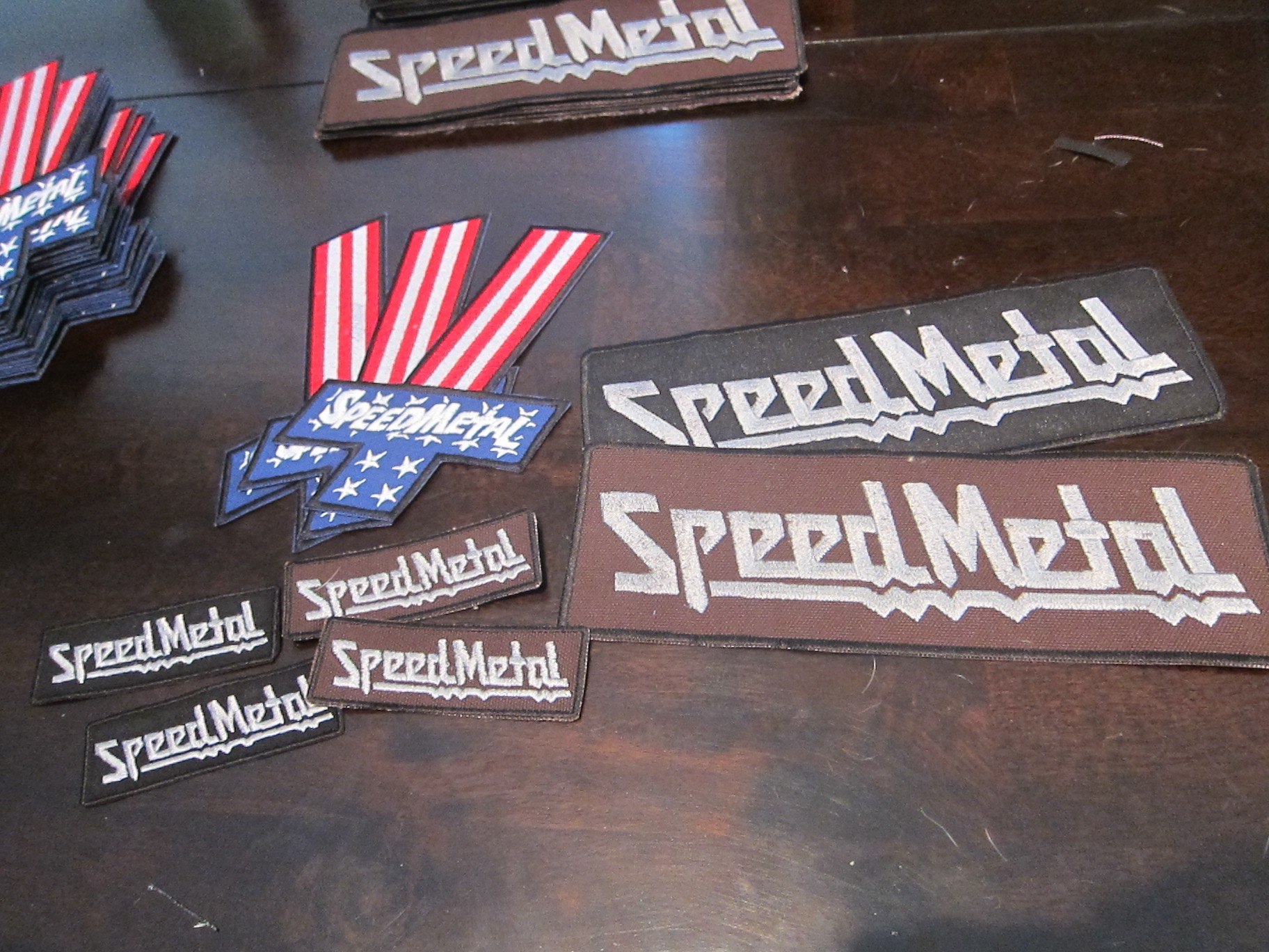 SpeedMetal embroidery patches