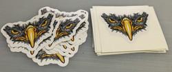 Longmont Hawks custom stickers