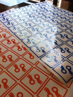 Peddle custom die cut stickers