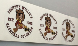 Shotgun Willie's custom stickers