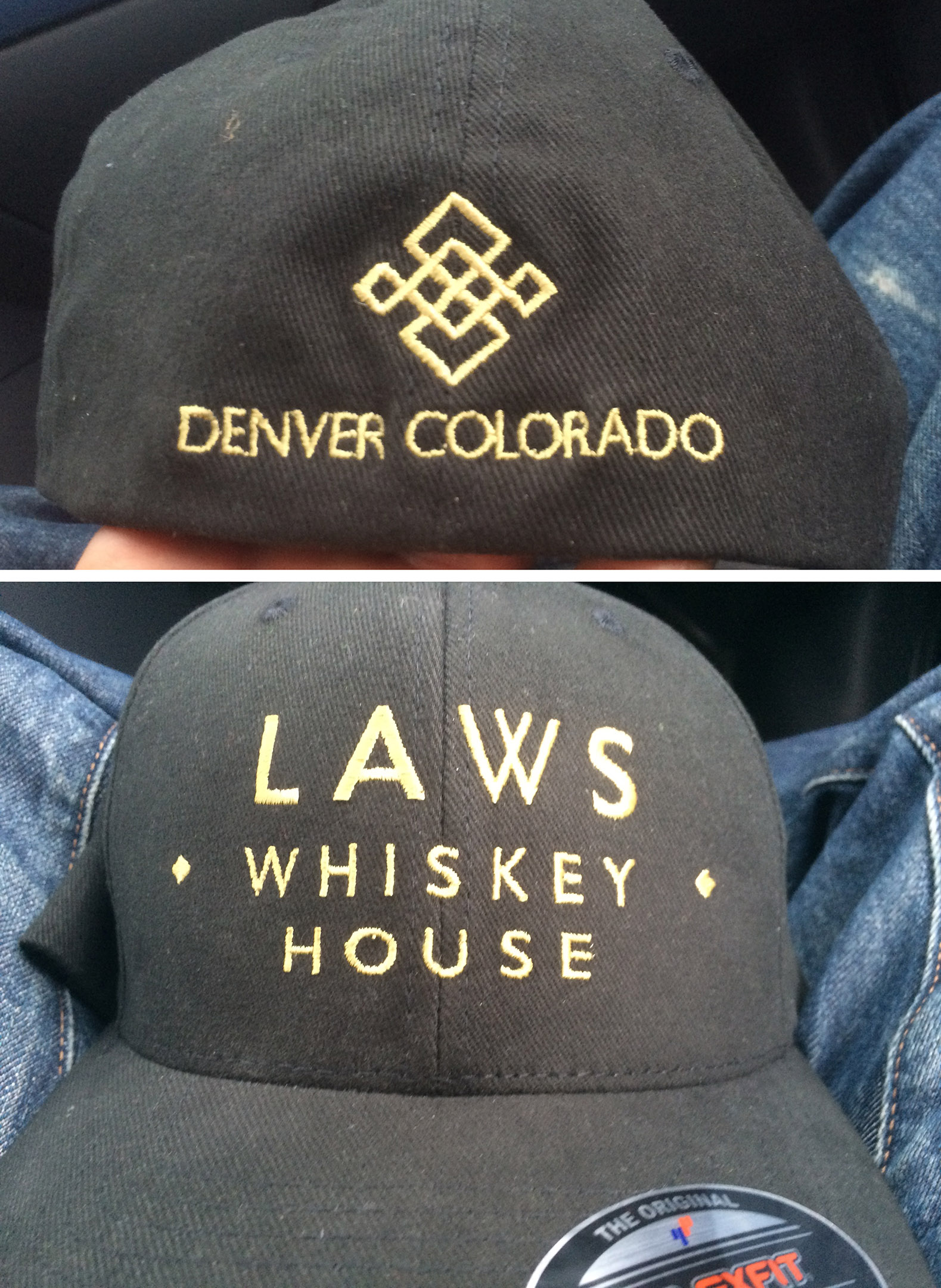 Laws Whiskey House custom embroidery