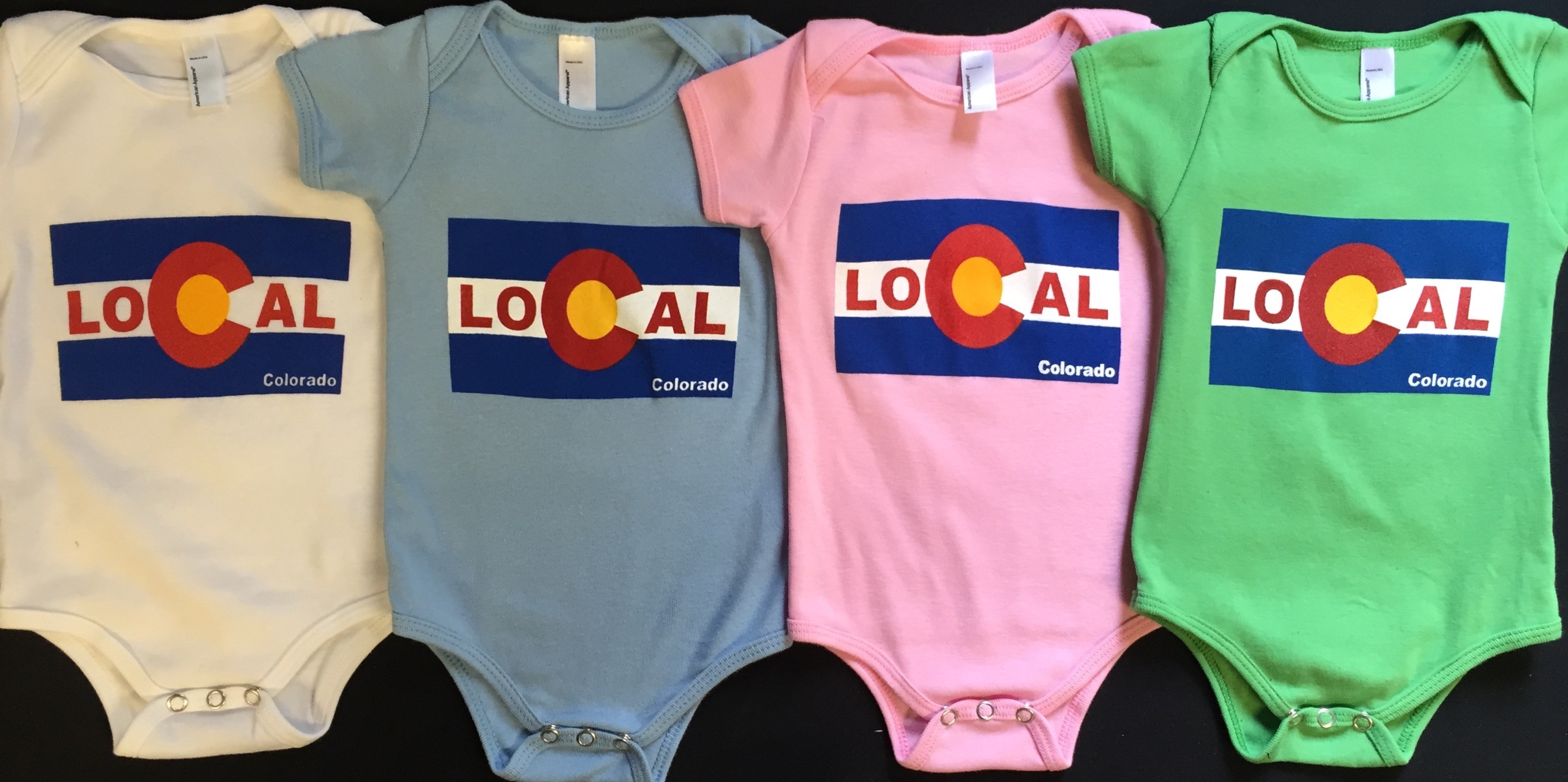 Real Baby screen print onesies