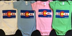 Real Baby screen print onesies
