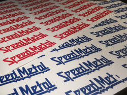 Speed Metal custom stickers