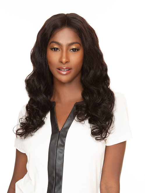 2501 22 inches 100% Virgin Unprocessed  Full Lace Wig with Loose Wave Texture