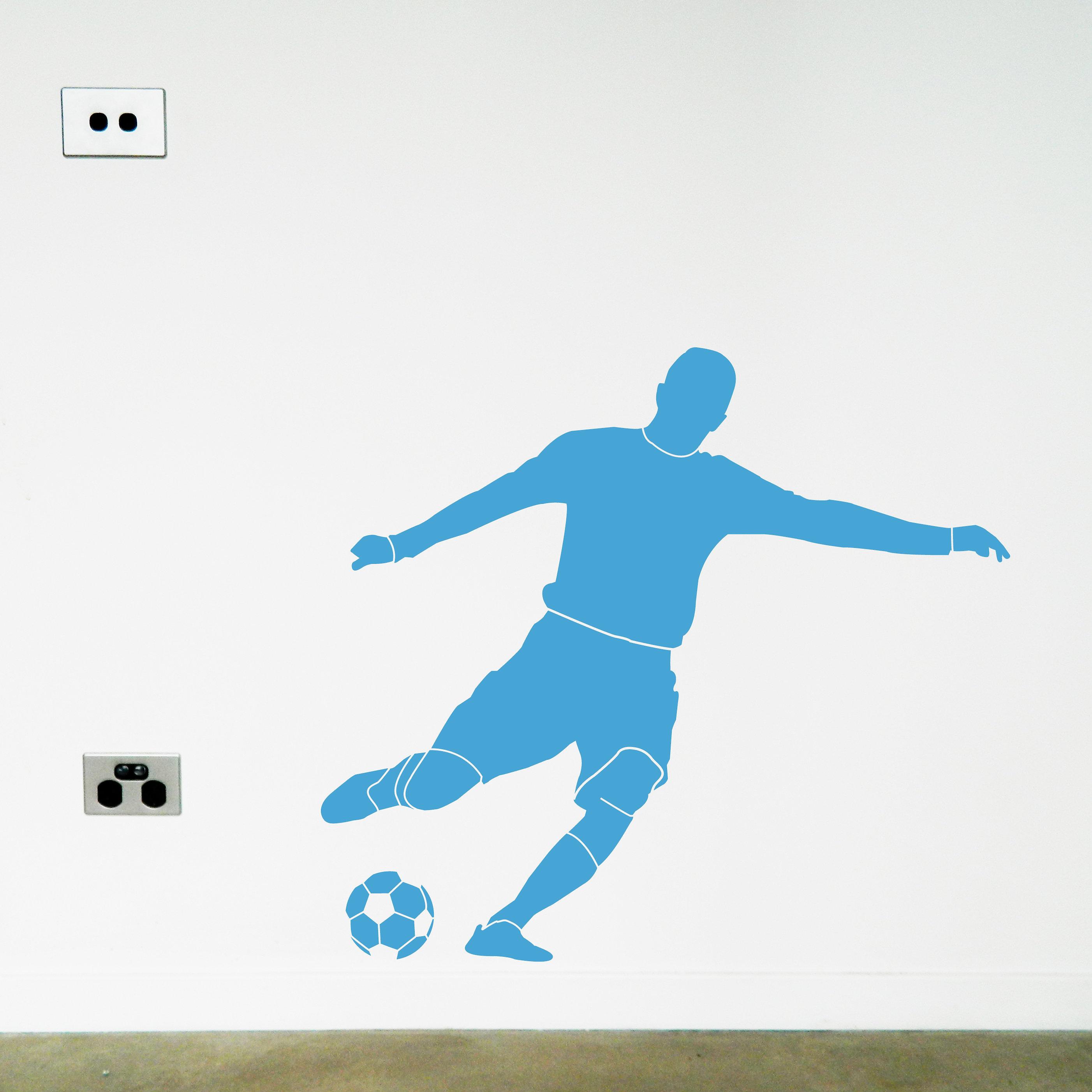 kids wall stickers decals australia moonface studio soccer soccer football wall sticker decal light blue jpg