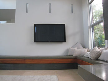 Wall mounted LED Television supplied and installed by Do Audio Visual Pty Ltd
