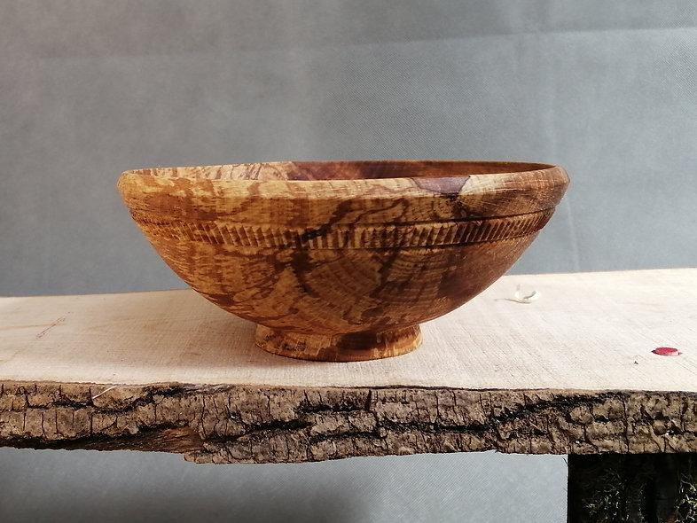 japanese style wooden bowl ramen bowl