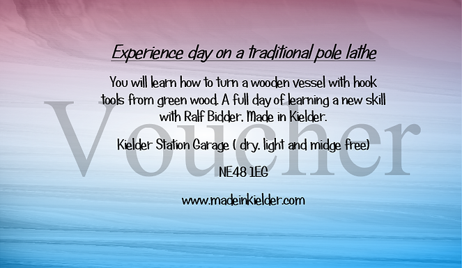 Voucher 'Experience day on a traditional pole lathe'