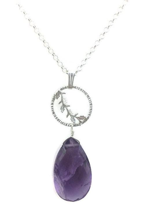 Silver Laurel Necklace