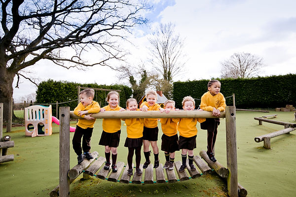Baston Pre-School children playing outside