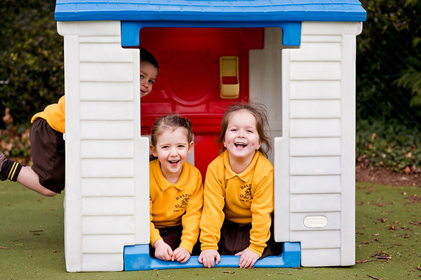 Baston Pre-School children playing outside